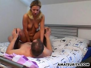 Amateur girlfriend suck and fuck with cum in mouth