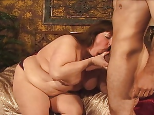 Big Belly Fat Brunette Fucks