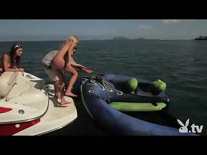 Naked Girls Do Crazy Stunts at Sea!