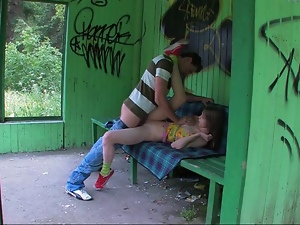 Girl and her buddy fuck rough
