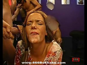 Delightful facial cumshot