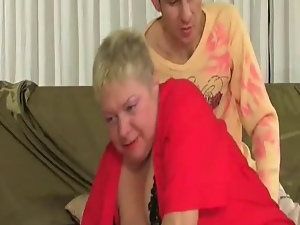Fat Blonde Granny Tries To Fight...
