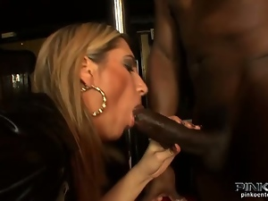 Busty italian blonde sucks and rides 3 cocks