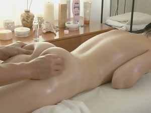 Asian beauty rough fucked by her masseur