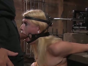Bondaged pornstars tortured and exploited