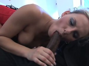 Patricia's tight pussy rammed by huge black cock