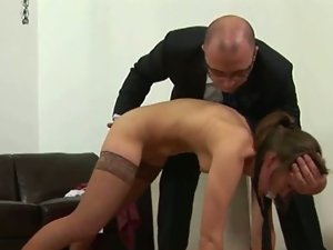 Bad college girl hard spanked from teacher.