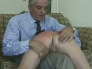 Old master spanks young slave