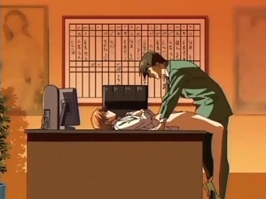 Boss fucks anime pussy on his desk