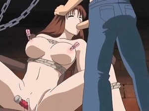 Hentai BDSM with tit pain and fucking