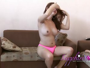 Sapphire Young in Pink panties