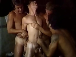 Vintage Homosexual Rough Fuck Orgy