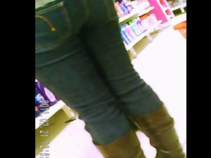 brown boots jeans naughty ass