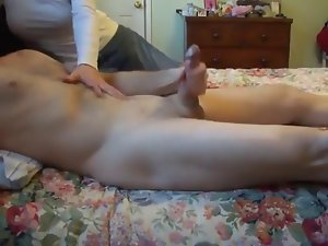 Dirty wife Jerking Me Off: CFNM