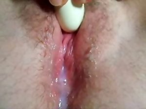 Vibrating sex toy and Orgasm! Amateur!