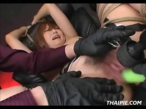 Attractive Sauce Vibrating sex toys And Bushy Asian Teenager Snatch
