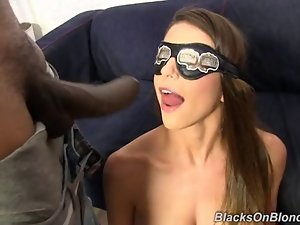 Brooklyn Chase gets bukkake and creampie after interracial