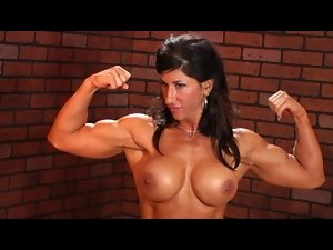 naked muscular dark haired working out
