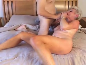 Granny Dirty wife Jewel Nailed By 18 years old Stud
