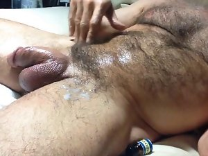 bushy daddy spank
