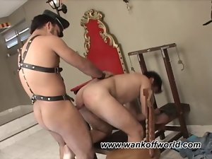 Bruno and Alan Engage In Some Leather and BDSM Sex Play