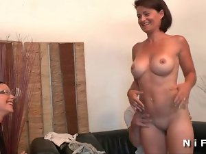 Big boobed french mature whore wild asshole grinded