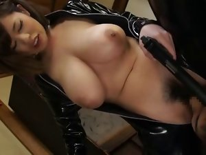 Latex asian chick with large melons