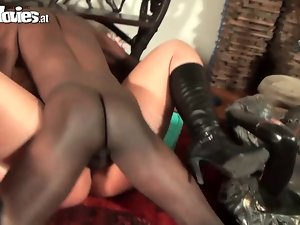 FunMovies Plump German cheating wife cuckold with a big black m