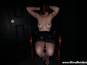 Gloryhole Secrets luscious redhead loves stiff penis 1