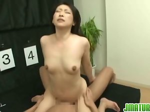 Sensual japanese female plays guessing game for husband