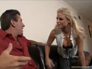 Chesty Light-haired Babe's Twat Gets Hammered