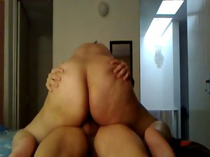 Amateur Big Naughty bum Riding Dick