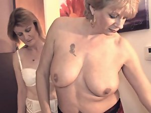 Chambermaid crazy threesome action
