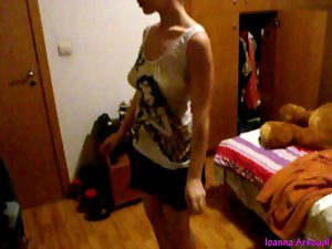 Ioanna Flashing Undressing