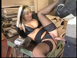 Dina Pearl Anally Banged In Black Lingerie