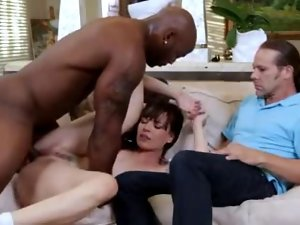 Cuckold hubby humiliated by better half and her lover