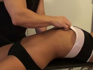 slutty wife belly sexual jiggle