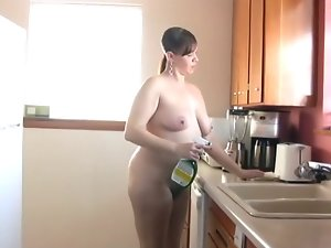 Barefoot & Nude In The Kitchen 189