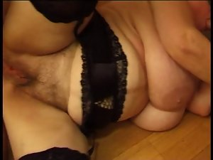 Big Boobed Buxom Granny Olga Needs Two 19 years old Shafts