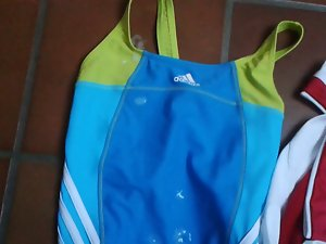 Swimsuit Adidas Lightblue + Cum Shot