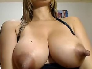 Really long lactating nipples on luscious Latina