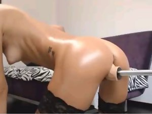Filthy Blondie Using Sex Machine 2