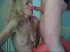Grandma licks my dick