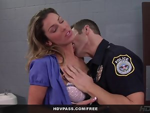 Kayla Paige Caresses and Bangs a Cop To Get Out of Jail