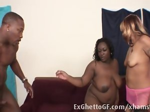 Black fellow screws to huge ghetto slutty chicks