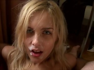 Blondie HJ BJ Facial Point of view xIJWHx