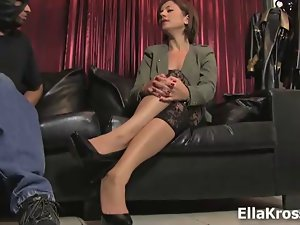 Ella Kross:Making My Husband Suck Shaft