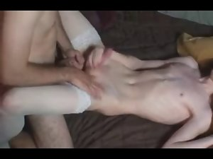 juicy ladyboy jerking and cum