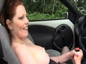amateur masturbates in the car and cums wild by WF
