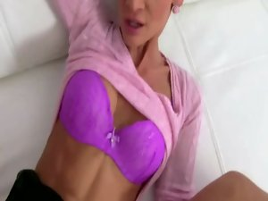 Euro porn agent bangs prospect on couch